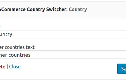 Country switcher widget