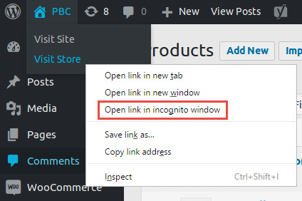 Open link in incognito window - chrome