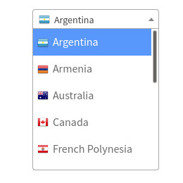 country switcher with flags using Select2